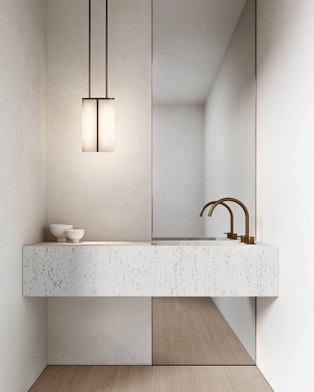 """Photo of Articolo Lighting's Instagram post: """"Articolo Slim Pendant with with white from shades and mid bronze fittings // Inspired by the sophisticated high life depicted in Slim…"""""""