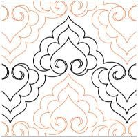 arabian hearts quilting pantograph pattern lorien quilting jpg