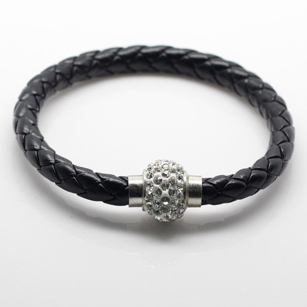 This Balla Bracelet will always remind you of what is right in the world with the Yin Yeng. Made from leather and shining Austrian Crystals this bracelet is sure to make everyone Jealous! 80% while supplies last!