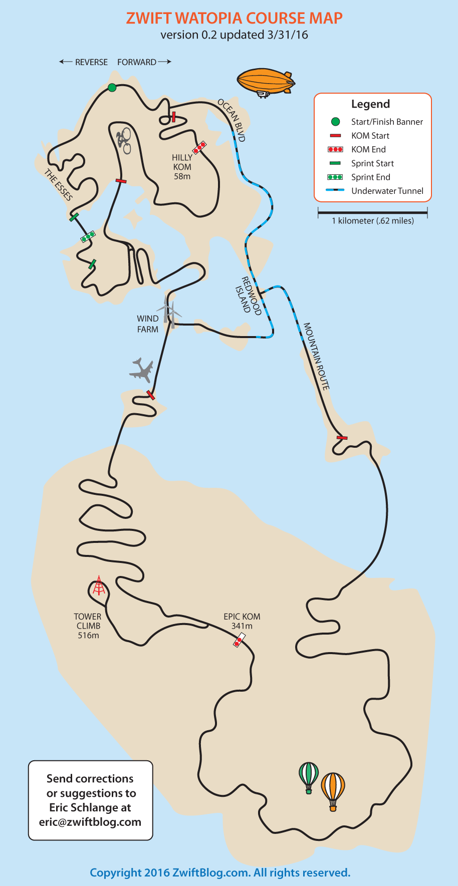 Watopia Course Map Looks