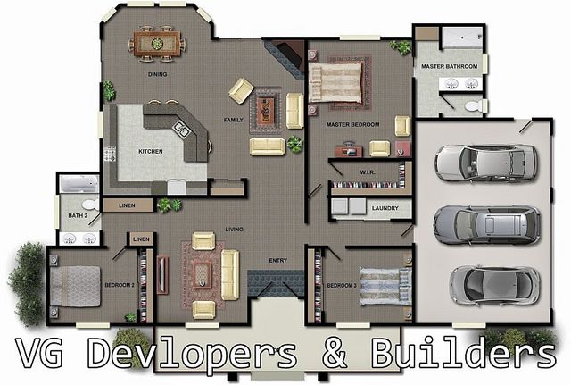 House Aerial View House Plans House Blueprints Small House Plans