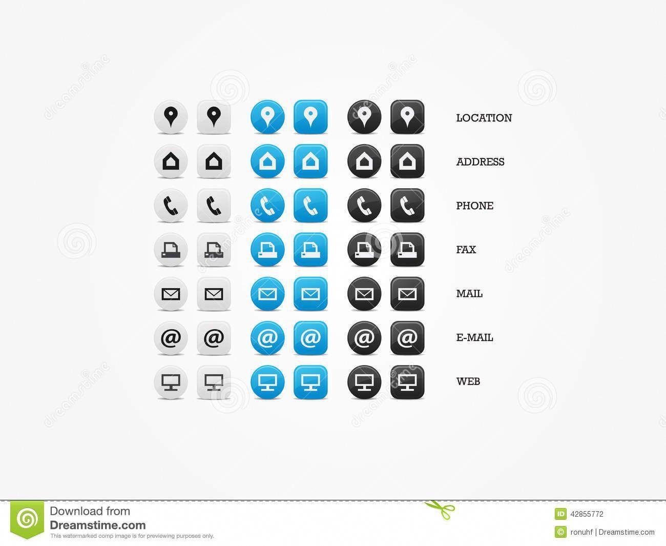 Social Media Icons Für Die Visitenkarten Kostenlos Zusammen