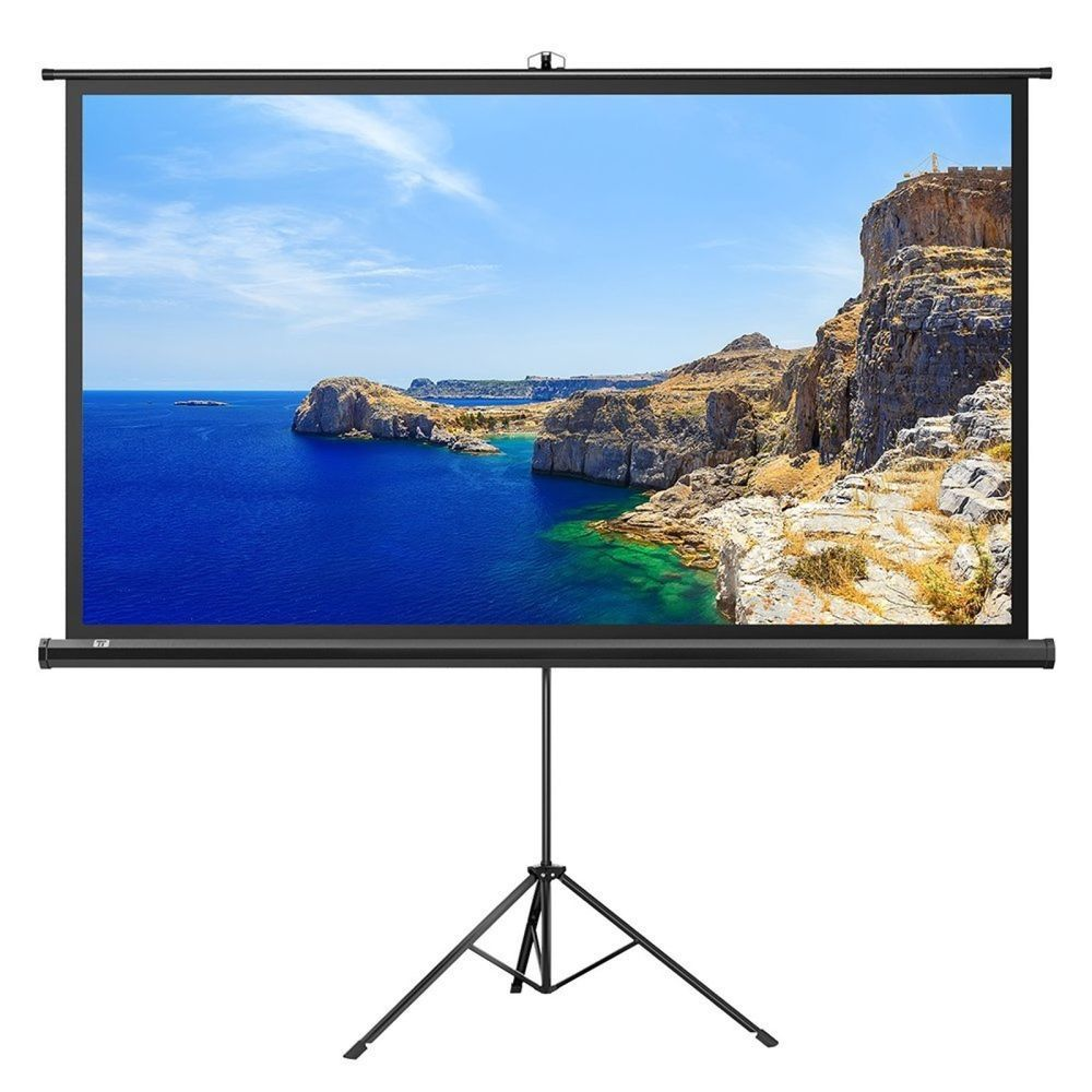 Projector Screen With Stand Taotronics Indoor And Outdoor Movie Screen 100 Inch Taotronics Outdoor Movie Screen Outdoor Projection Screen Outdoor Movie