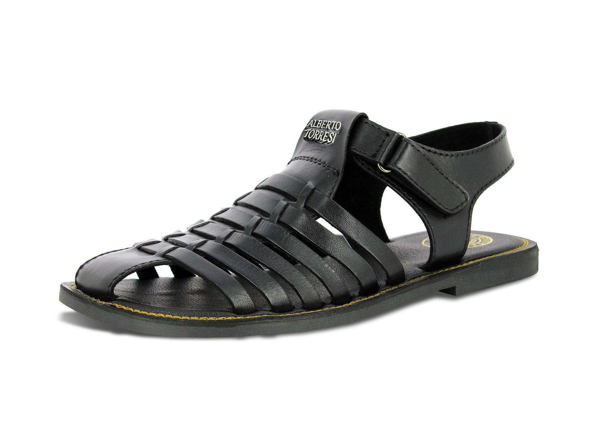 754b029c4472c Buy Black Leather Sandals for Men Online
