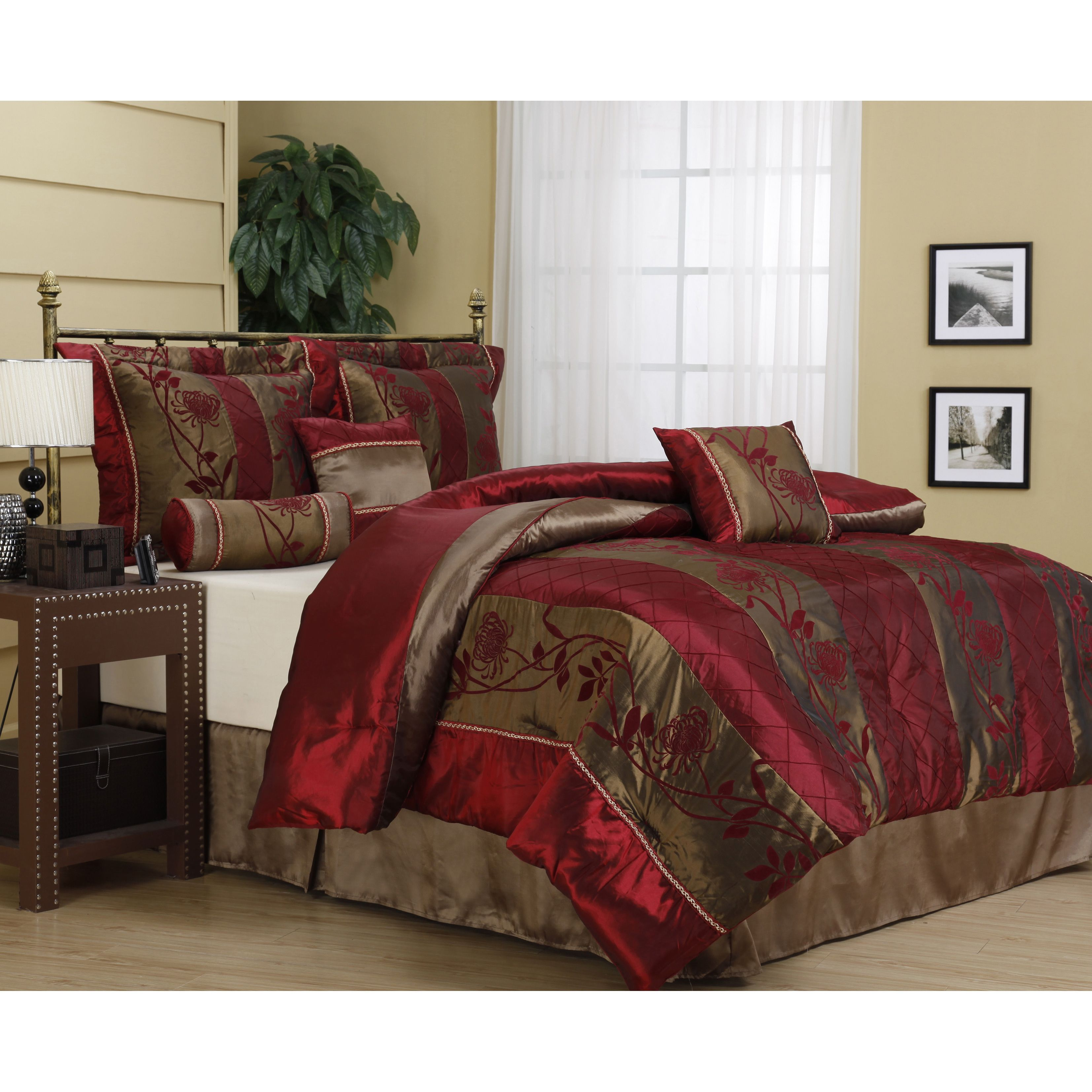 Bedding jardin collection bedding collections bed amp bath macy s - Nanshing Rosemonde 7 Piece Red Gold Comforter Set By Nanshing
