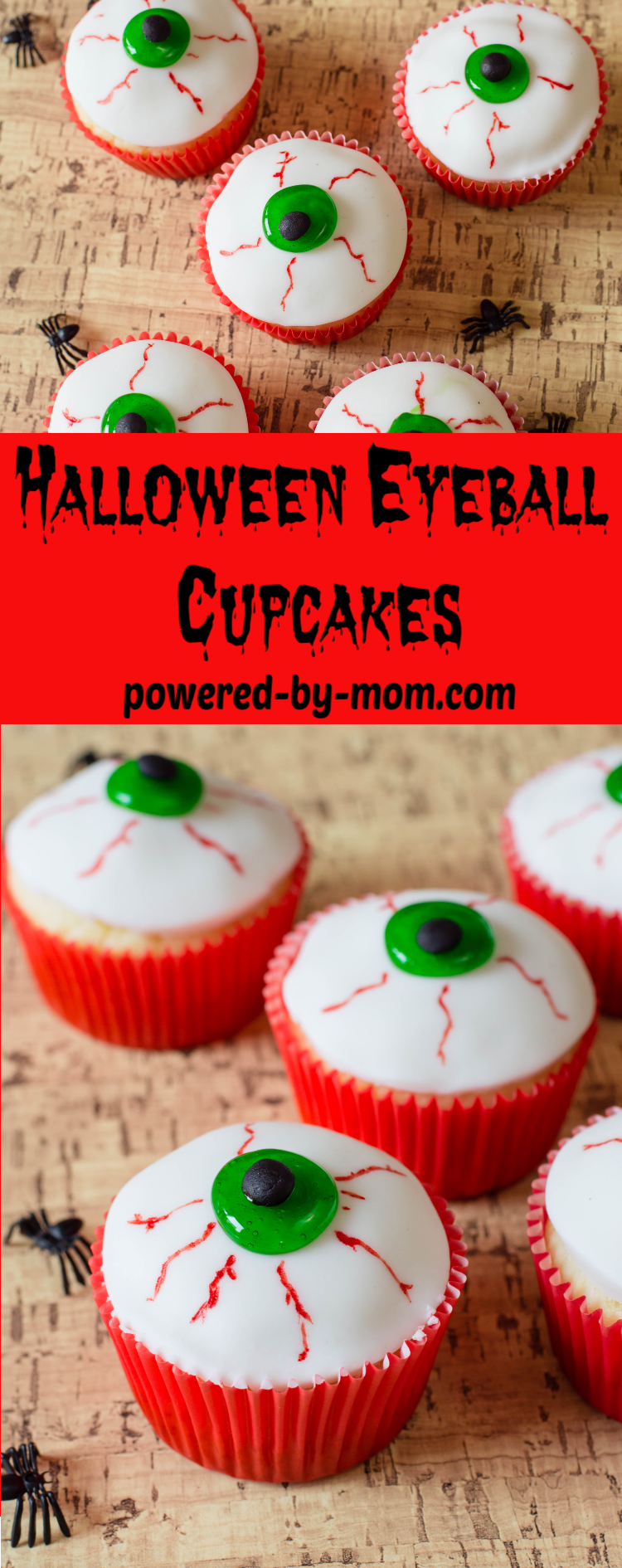 This Halloween Eyeballs Easy Halloween Cupcakes recipe uses a cake mix as a base and creates a fun and easy eyeball topping that is both spooky and delicious!