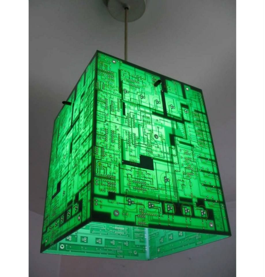 Recycled Circuit Board Light Detail Interior Walls Pinterest Laptop Hard Drive On A Clock Awesome Combination