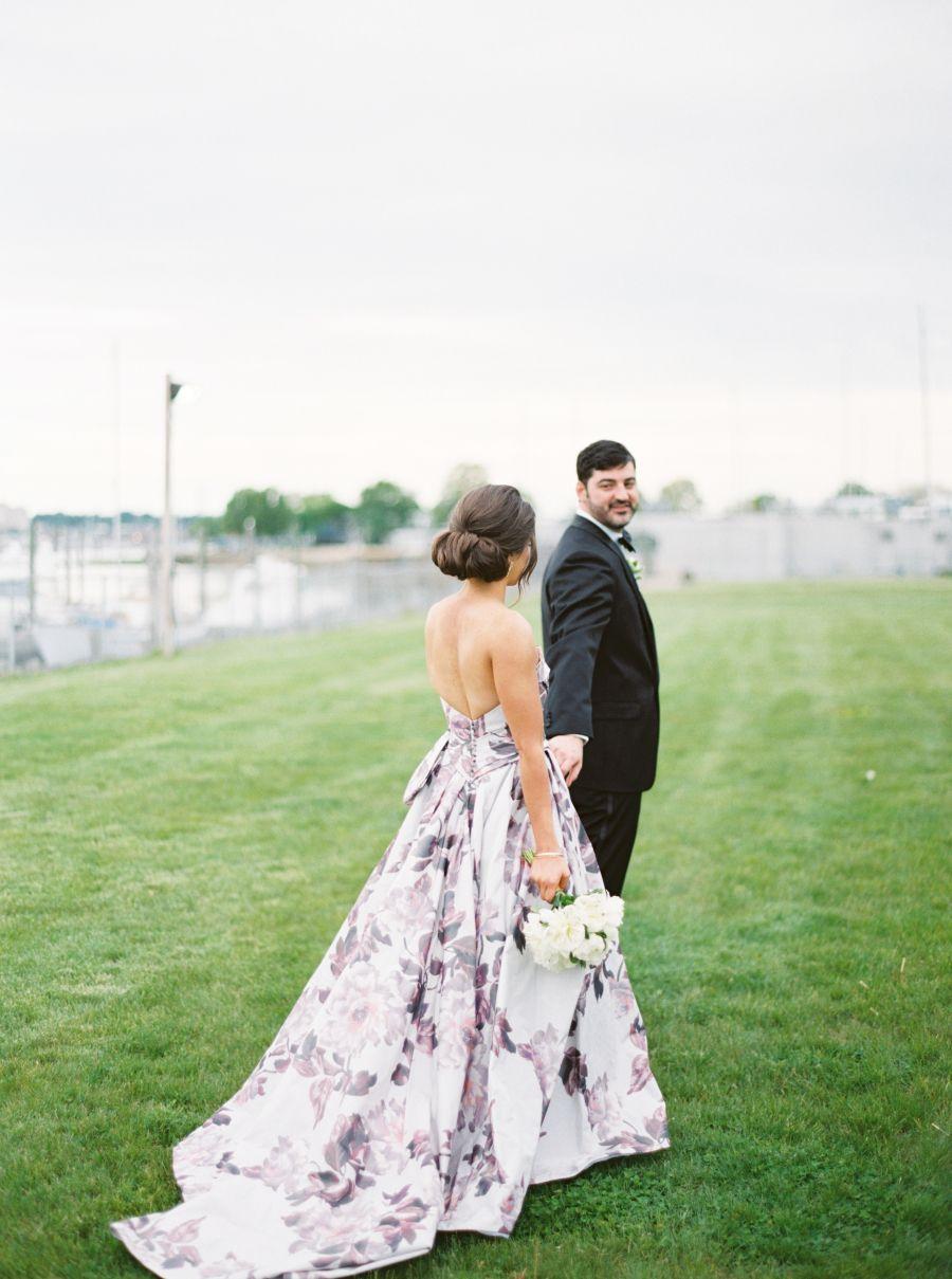 Floral print wedding dresses  The Bride Designed Her Own Floral Print Wedding Dress  Floral