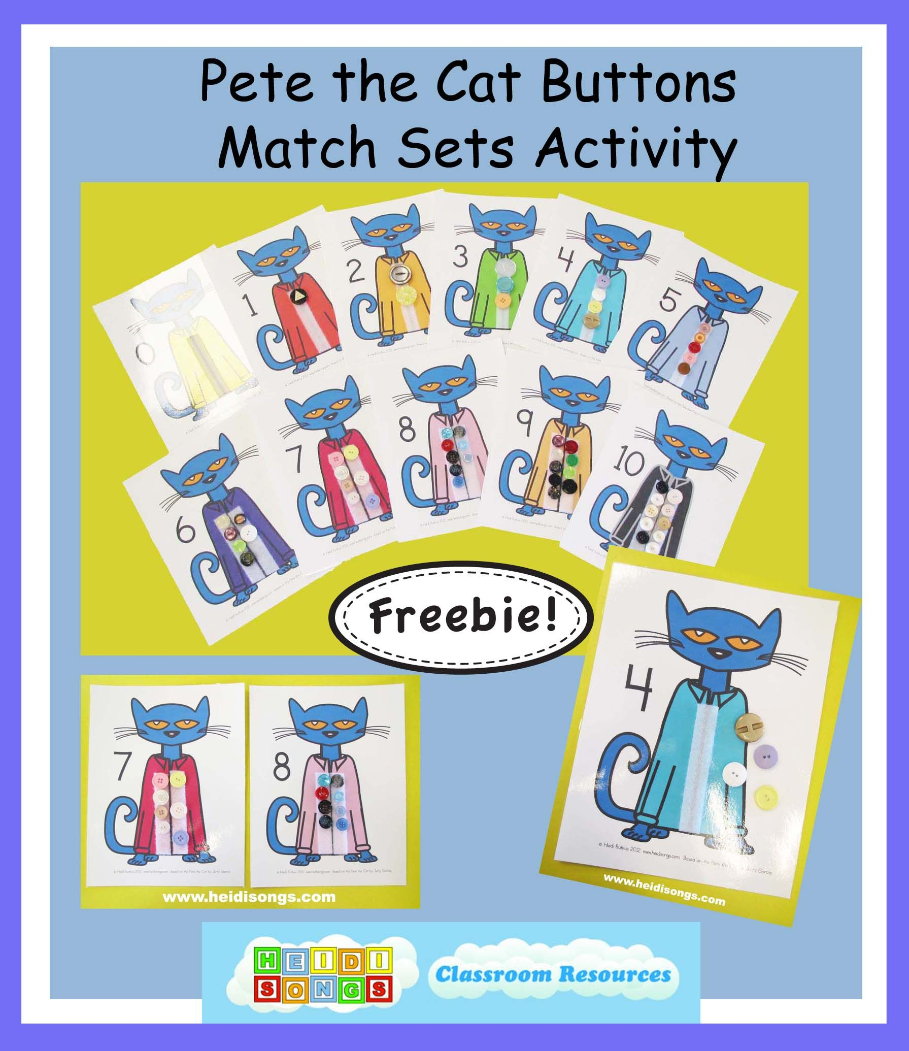 A Pete The Cat Freebie