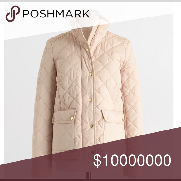 """IN SEARCH OF JCREW QUILTED JACKET Hi I am looking for this JCrew Quilted Jacket in """"Warm Bisque."""" I am aware they are selling it online- but if anyone has this jacket I am willing to buy it from someone on PoshMark. J. Crew Jackets & Coats"""