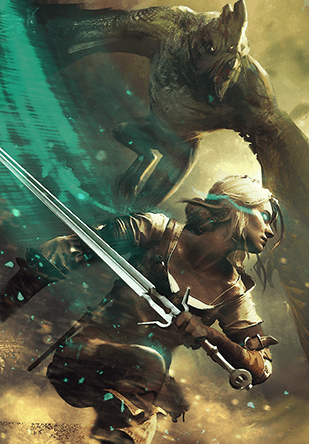 Witcher 3 - Ciri, Ballad of Heroes Gwent Card (credit: Atvaark on ...