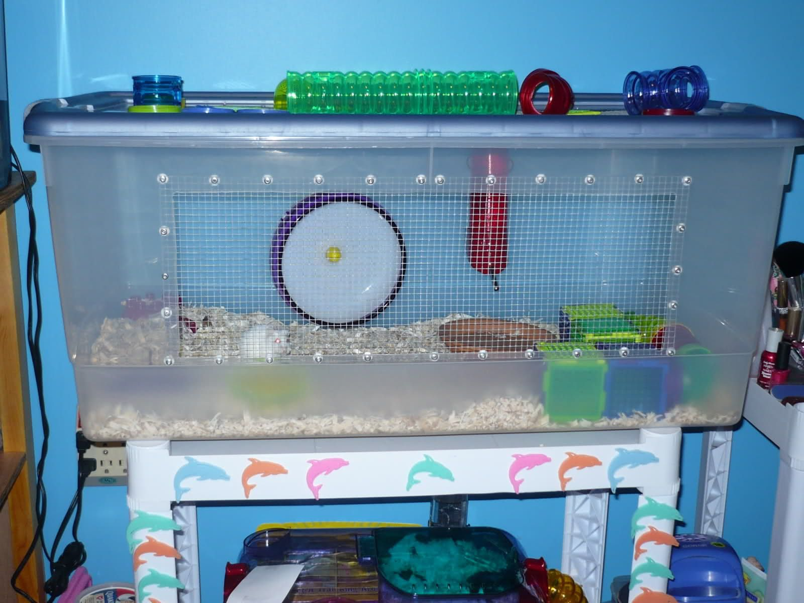 Images of post your bin cages page 2 supplies for Fish tank for hamster