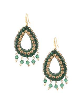 Beautiful Tear Drop Style Green Lac Earrings | Rs. 330 | http://voylla.com