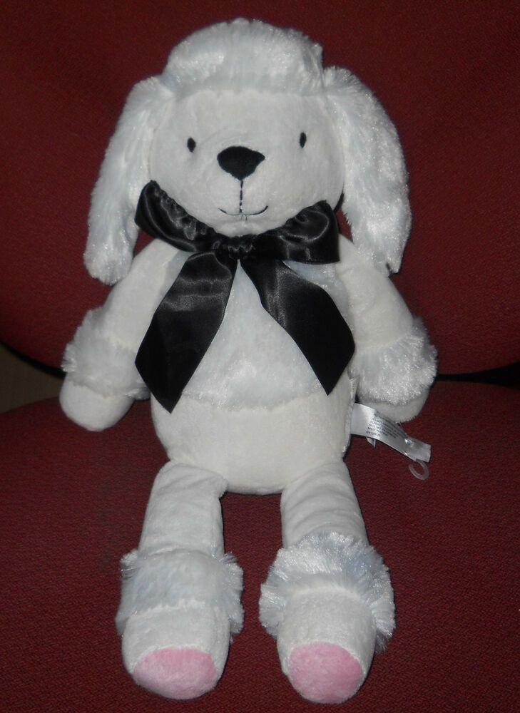 French white poodle dog soft toy plush stuffed 17 petit