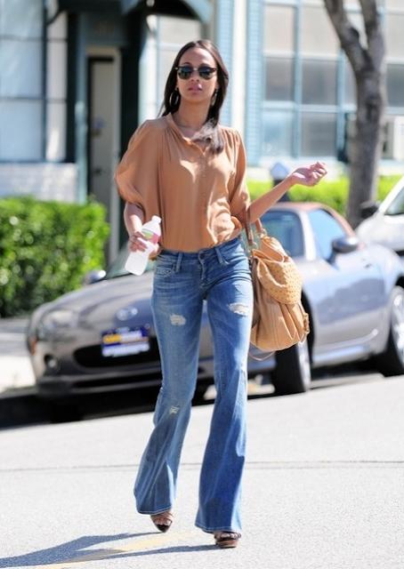 258697951ff Zoe Saldana   Celebrity Love for Diesel   Pinterest   Chic, Casual ...