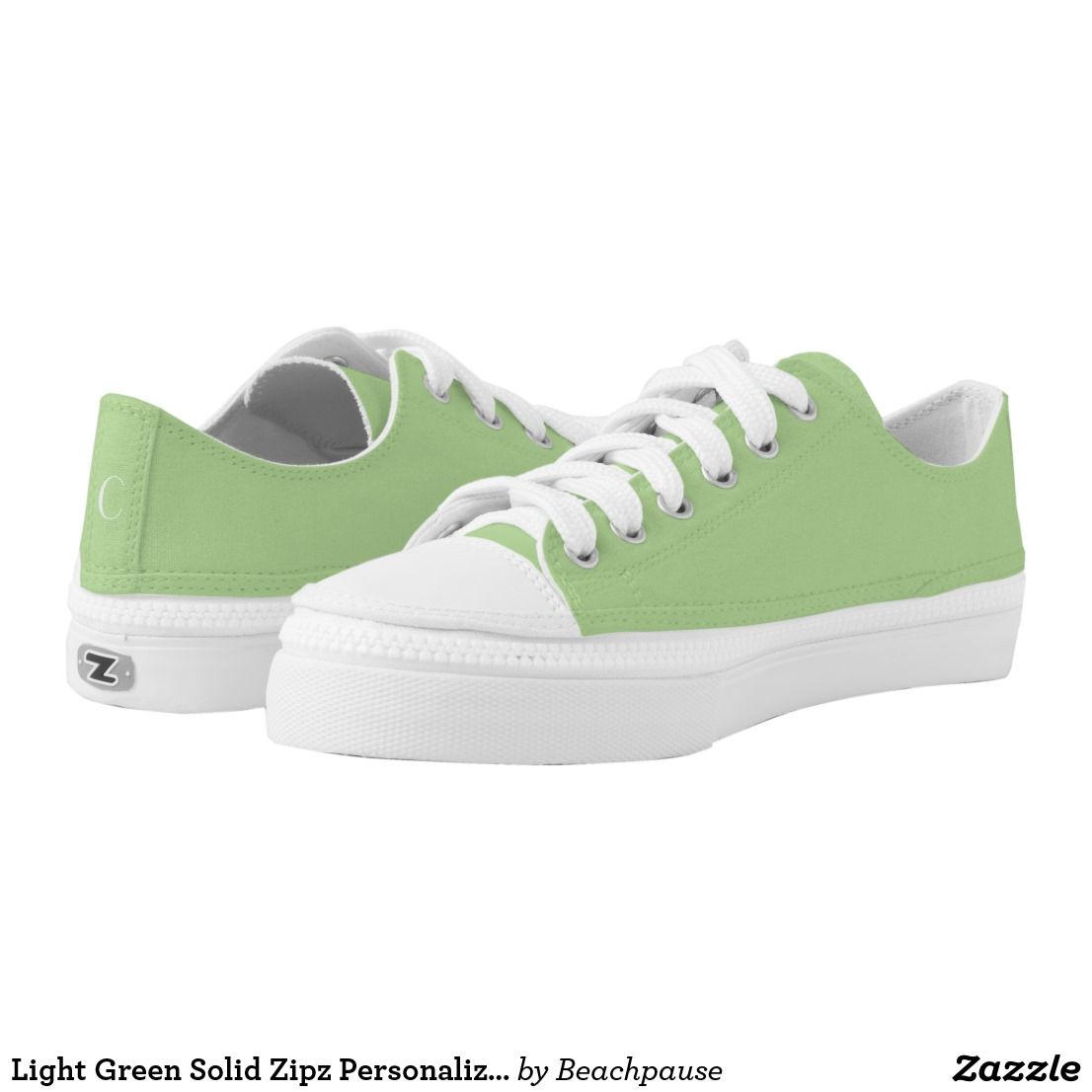 Light Green Solid Zipz Personalize
