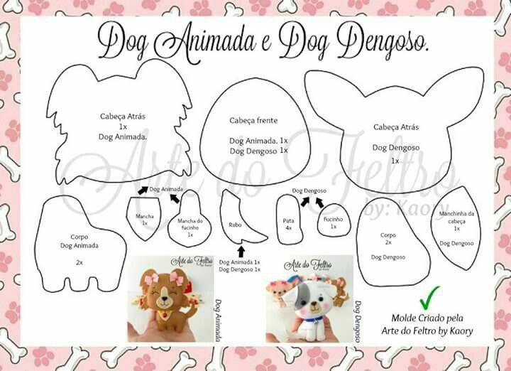 Dogs arte em feltro