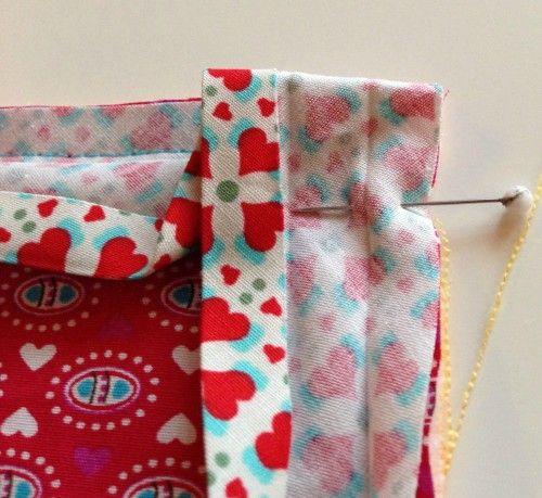 Tischset - Einfassung wunderbar erklärt   Sewing tricks   Pinterest ...