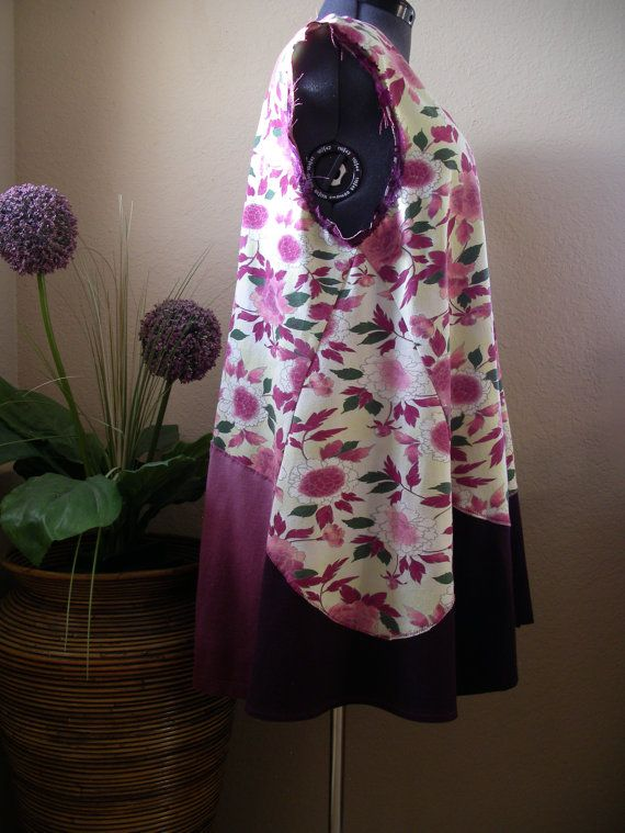 Maroon and Light Yellow Romantic Tunic/ by CycleOnStitches on Etsy