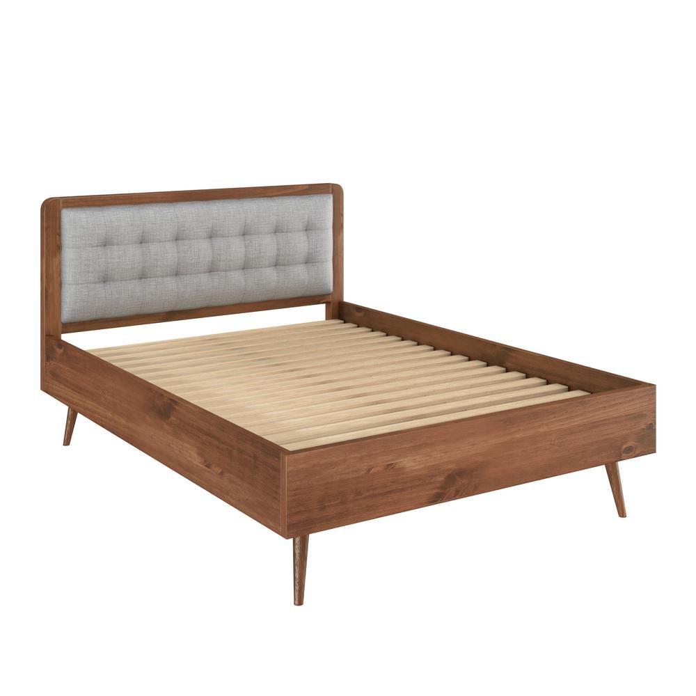 - Manhattan Comfort Bedford 2.0 62 In. Solid Pine Wood In Varnish