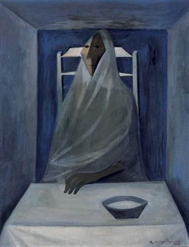 Seated Woman - Carlos Orozco Romero - Cubism,  - Surrealism