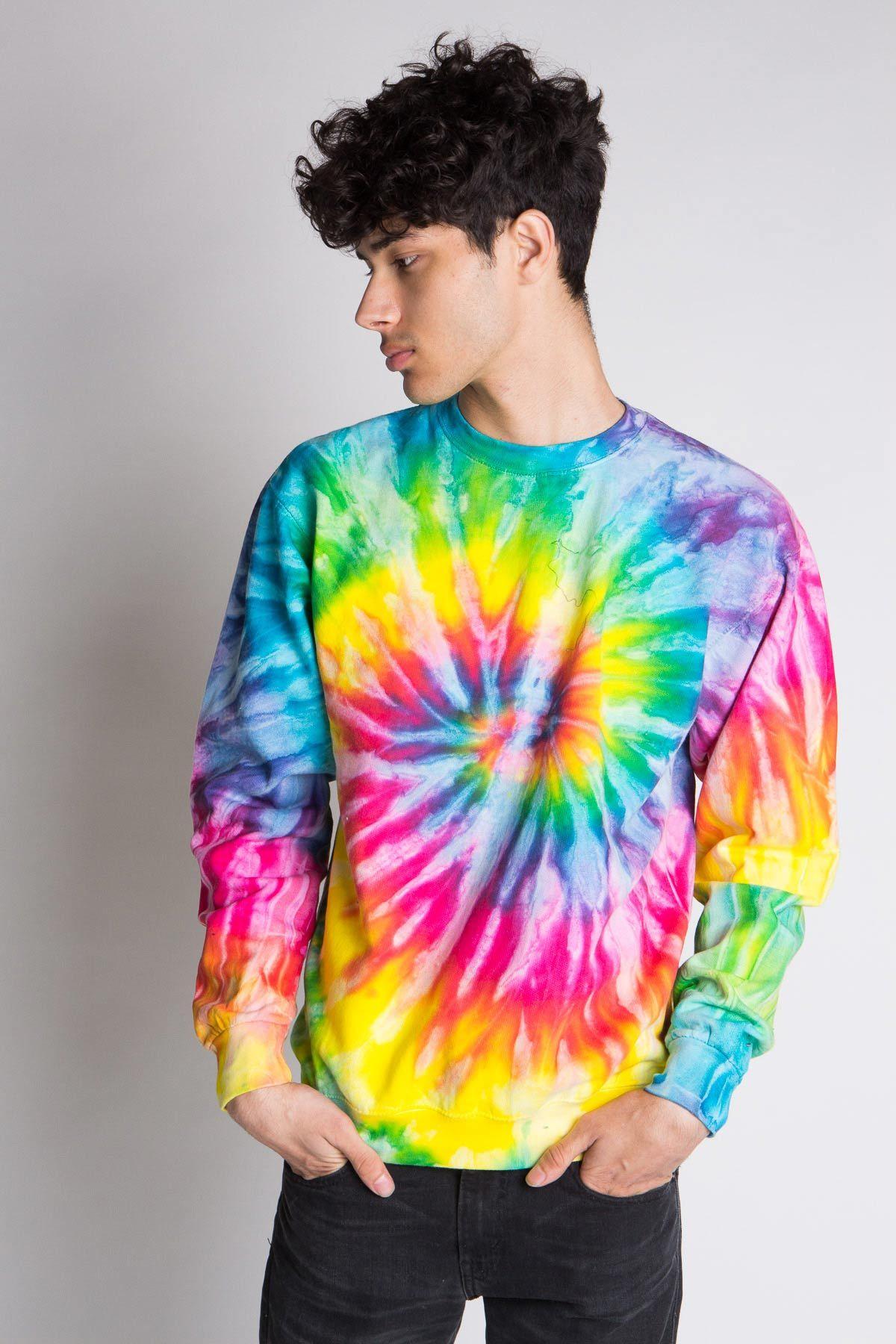 Rainbow Burst Tie Dye Sweatshirt Ragstock Tie Dye Outfits Tie Dye Tie Dye Shirts Patterns [ 1800 x 1200 Pixel ]