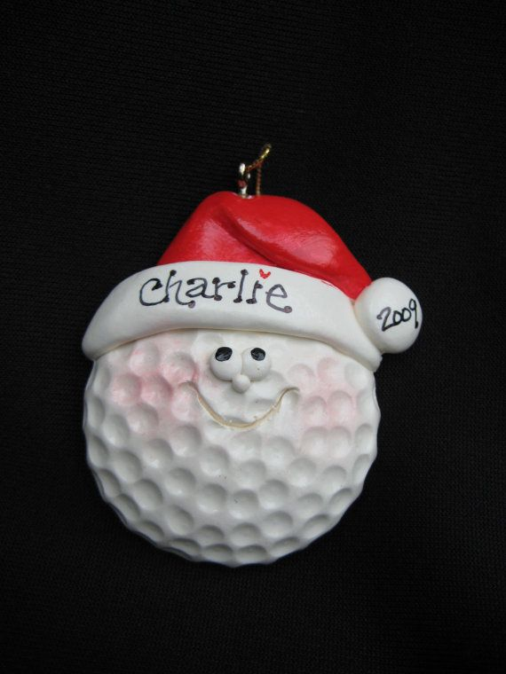 Personalized Golf Ball Ornament by cyndesminis on Etsy, $6.00