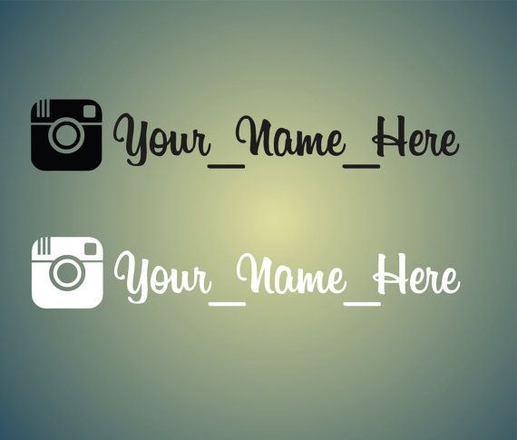 Custom Instagram Name Vinyl Decal Vinyl Decal Laptop Decal Car - Transfer tape for vinyl decals