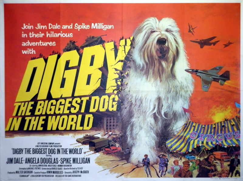 Digby, the Biggest Dog in the World. Dog movies, Big dogs