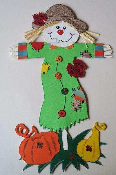 Fensterschmuck Fensterbild Herbst Vogelscheuche Mit Kurbissen Ein Designerstuck Von Nickysba Fensterbilder Herbst Vogelscheuche Basteln Mit Kindern Herbst