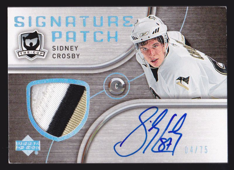 05 06 The Cup Sidney Crosby 75 Auto Signature Patch Penguins Rookie
