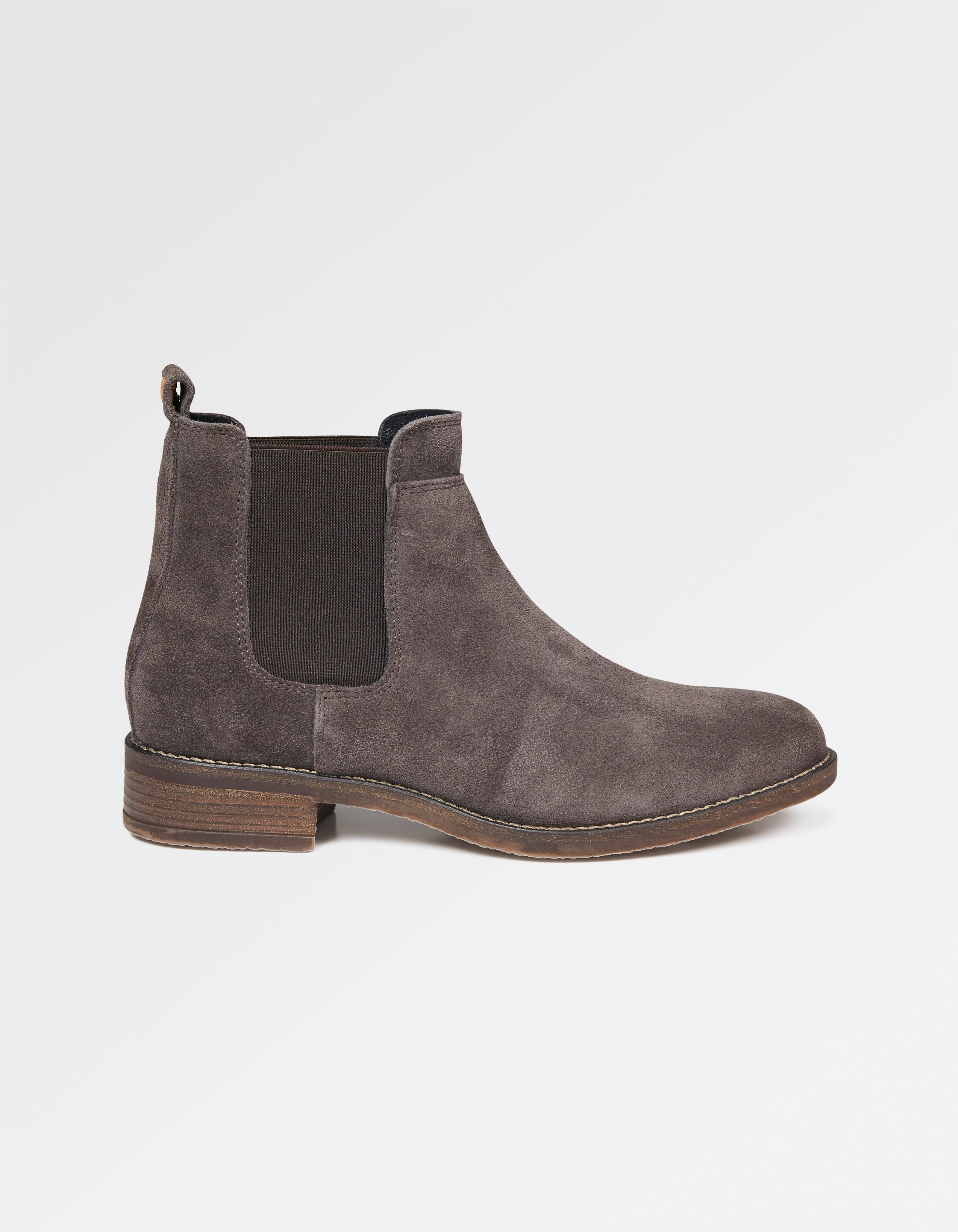 Buy Grey Newham Suede Chelsea Boots