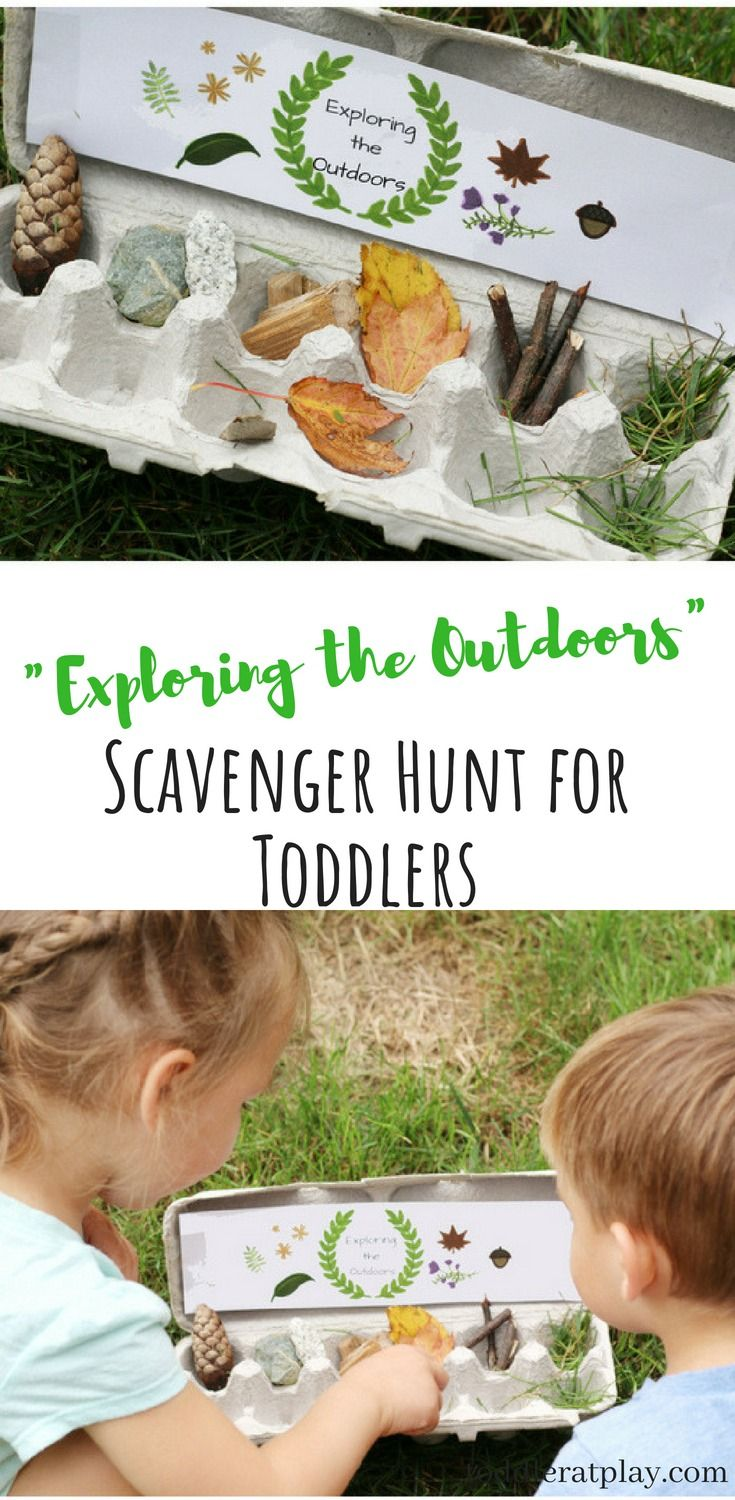 Exploring the Outdoors Scavenger Hunt + Free Printable is part of Outdoor activities for toddlers - This Outdoor Scavenger Hunt is perfect for toddlers to helps expore nature and find its treasures