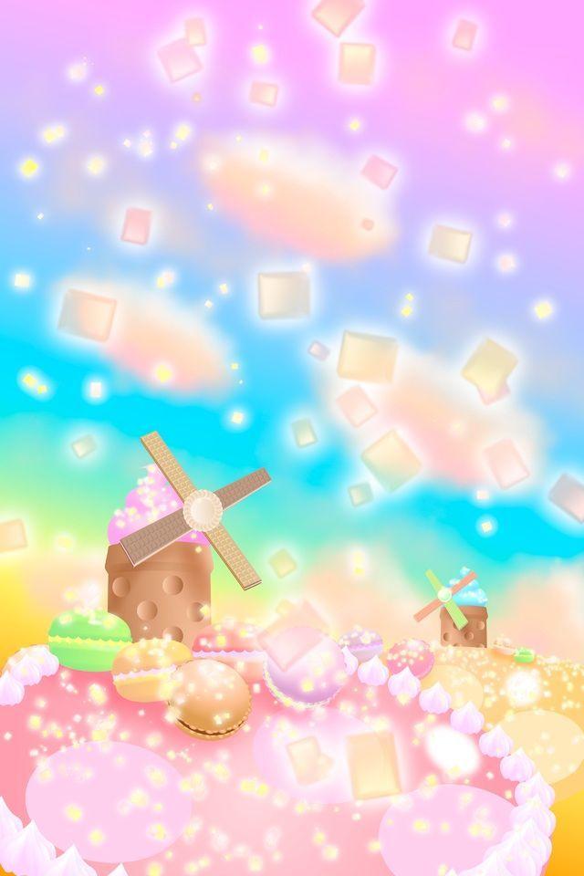 Candyland Wallpaper Iphone 4 Begehbarer Kleiderschrank 4s Landschaft Illustration