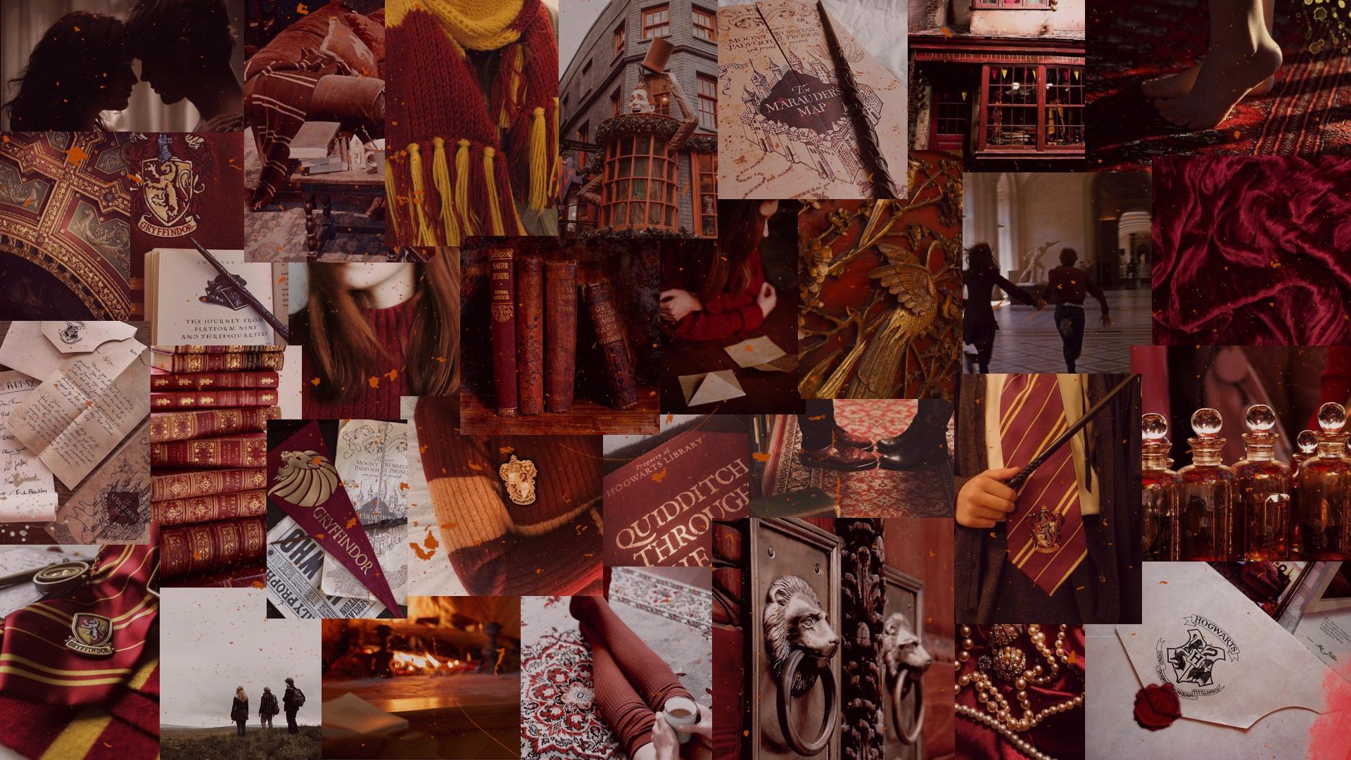 Gryffindor Desktop Wallpaper Desktop Wallpaper Harry Potter Harry Potter Wallpaper Gryffindor Aesthetic