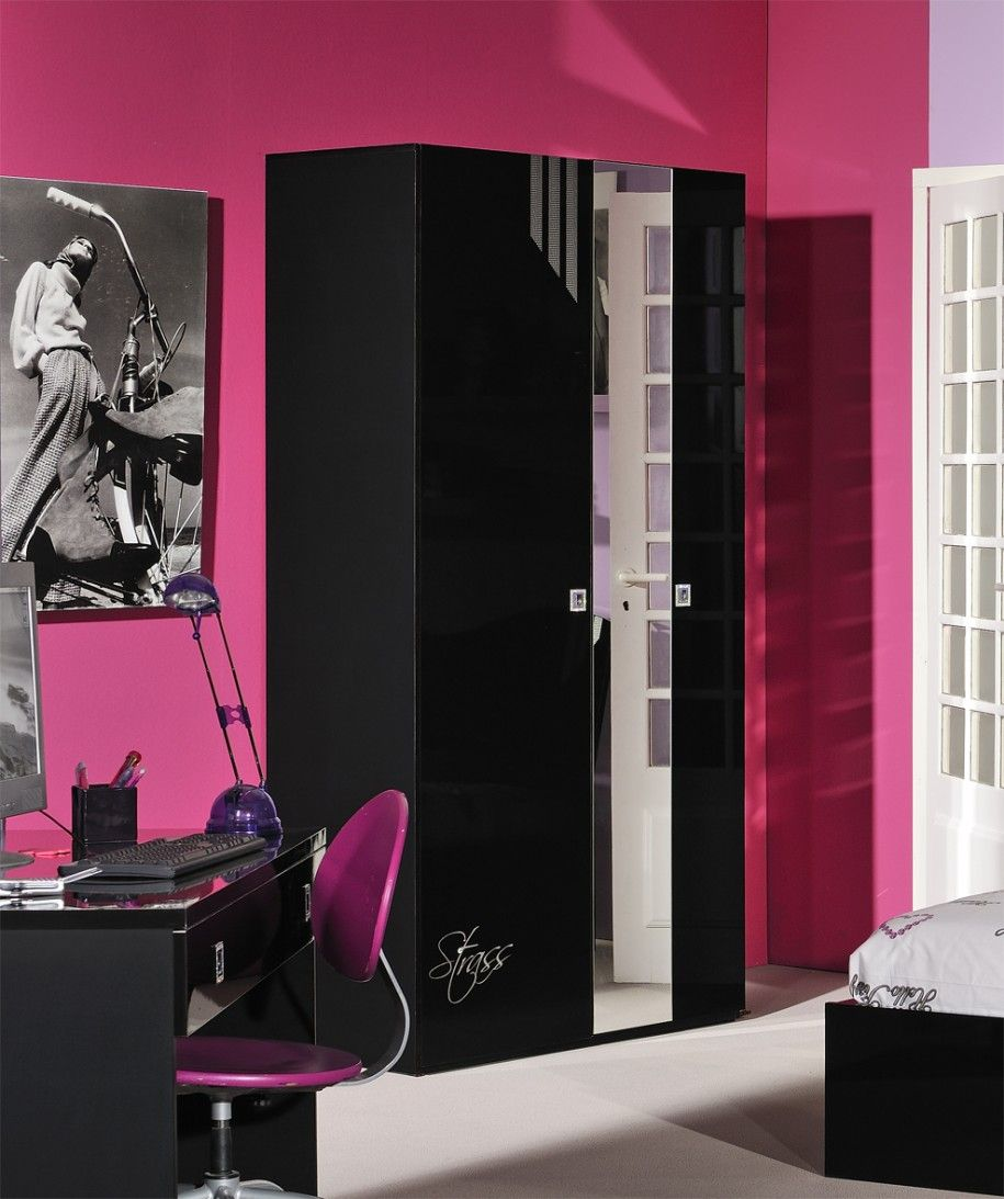 Magnificent Black Gloss Bedroom Furniture Pink Wall Modern Style Bedroom Design Inspiration Pink Walls Indian Interiors