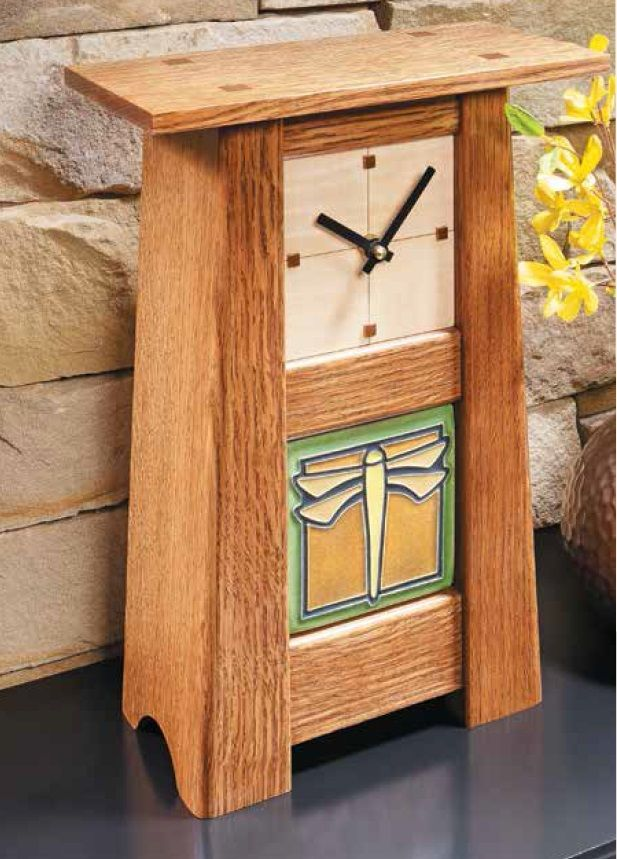 Instructions On Making This Craftsman Style Clock With A Handmade