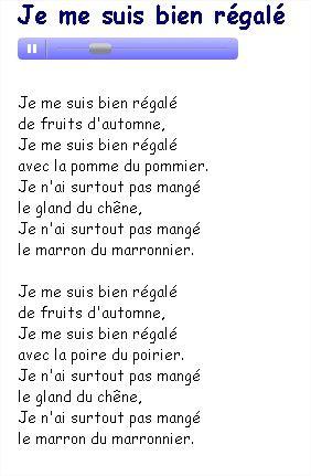 Les fruits d 39 automne couter sur music me http www - Fruits automne maternelle ...