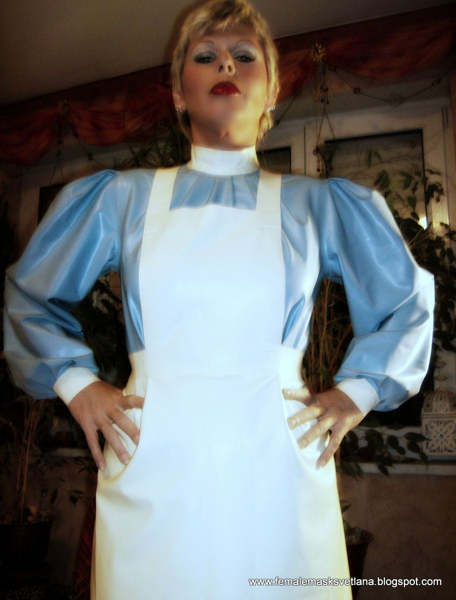 Blue apron ownership - My Perspective In Rubbernurse Dress Blue Rubbernurse Dress With Whiterubber Apron