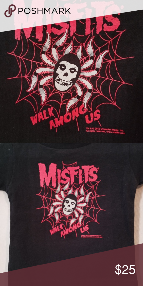 Misfits Walk Among Us T Shirt Black And Red Month Colors Sourpuss