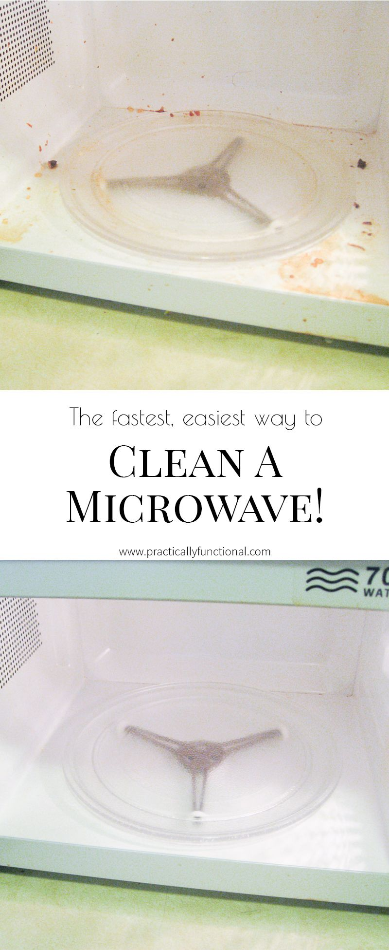 How To Clean A Microwave With Vinegar Steam No Scrubbing