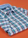 Pullover Contrast Interior Trim Short Sleeve Sport Shirt
