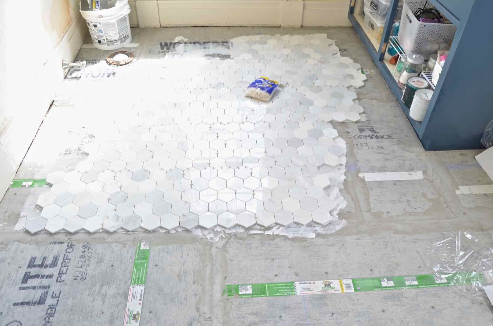 How to prep and tile a floor step guide
