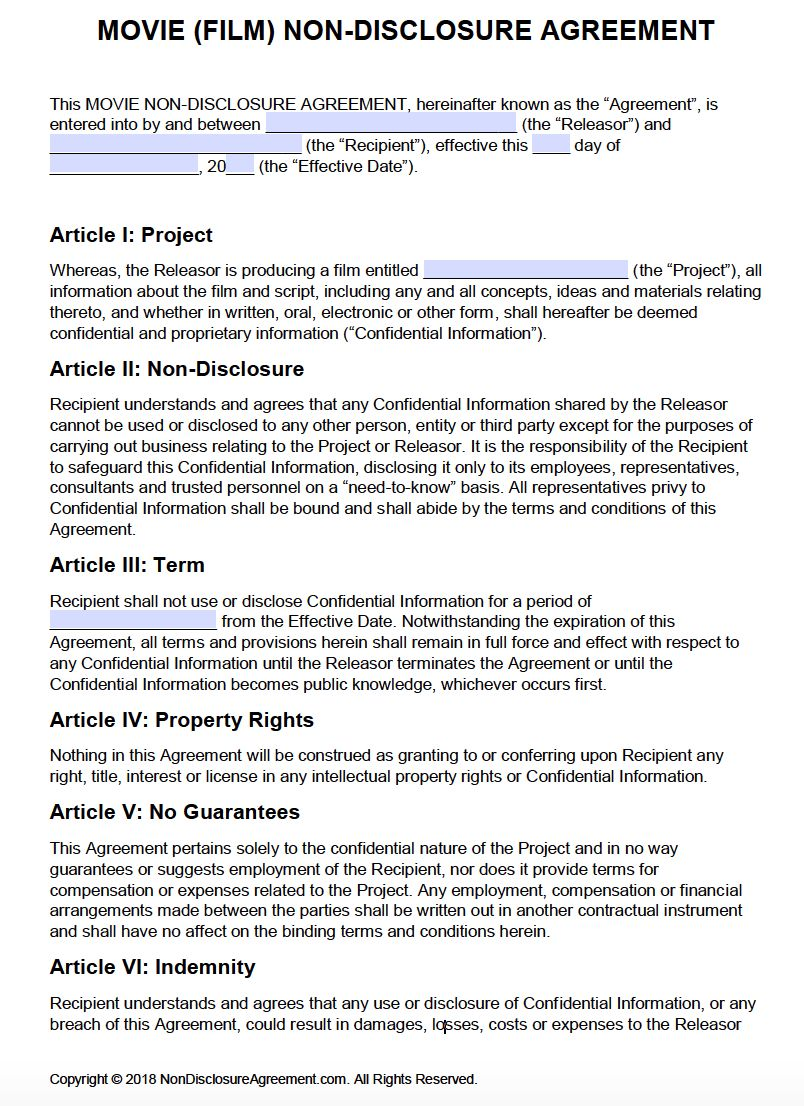Pin On Best Sample Template Non disclosure agreement template word