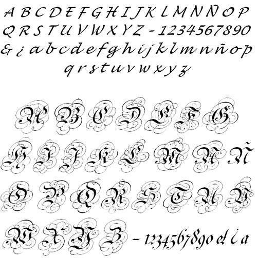Letras Cursivas Para Tatuajes Online letras para tatuajes en cursiva. las mejores ideas sobre tatuajes