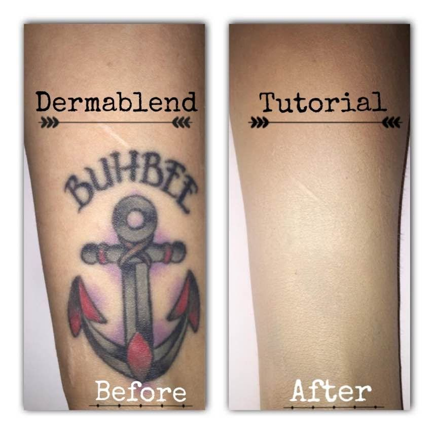 Dermablend tattoo cover up tutorial tattoo foundation