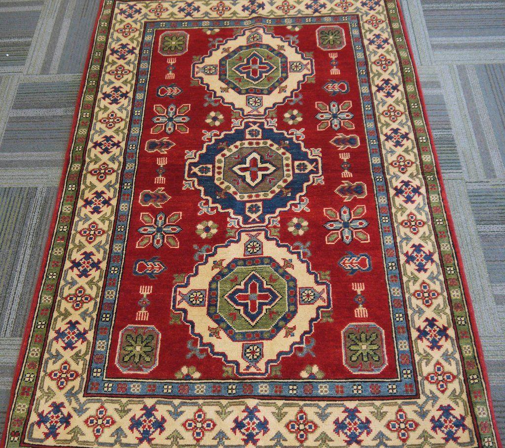 Kazak handknottedhandmade afghan rugcarpet tribalnomadic