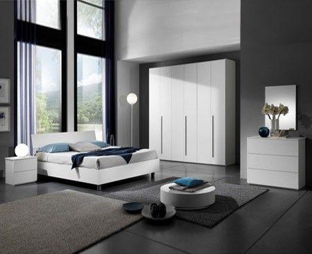Camera da letto Completa Bianco Frassinato ENEA | Camere ...
