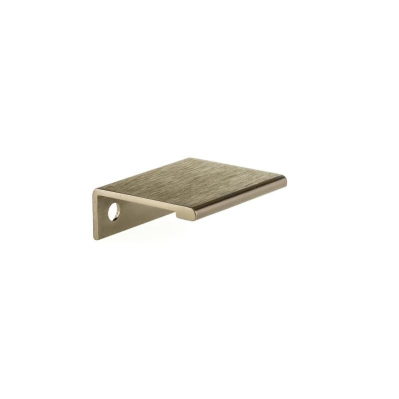 Richelieu Bp989833 1 5 16 Inch Center To Center Finger Cabinet Pull Champagne Bronze Cabinet Hardware Pulls Finger Bronze Contemporary Drawers Hardware