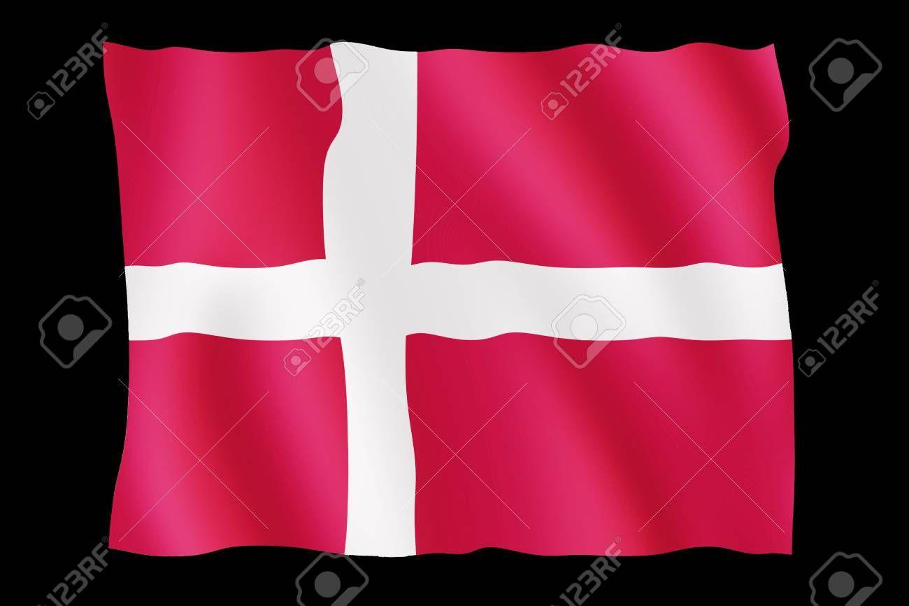 Flag Of Denmark On Black Background Aff Denmark Flag Background Black In 2020 Denmark Flag Black Backgrounds Home Decor